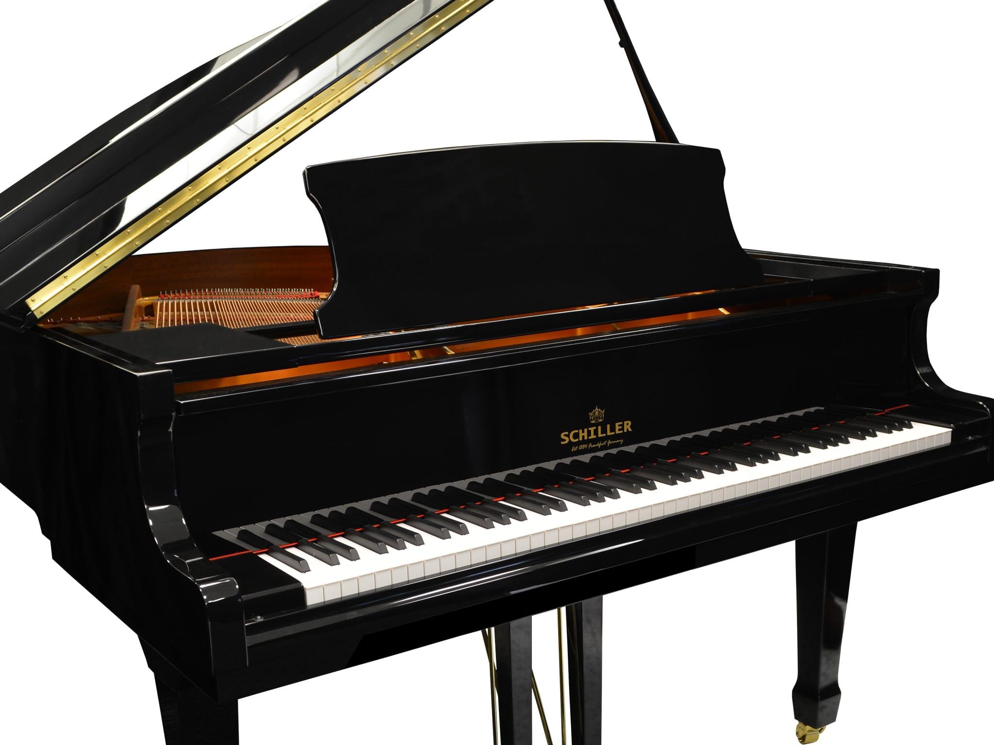 Berlin Grand Piano – Ebony Polish | Schiller Piano Company USA