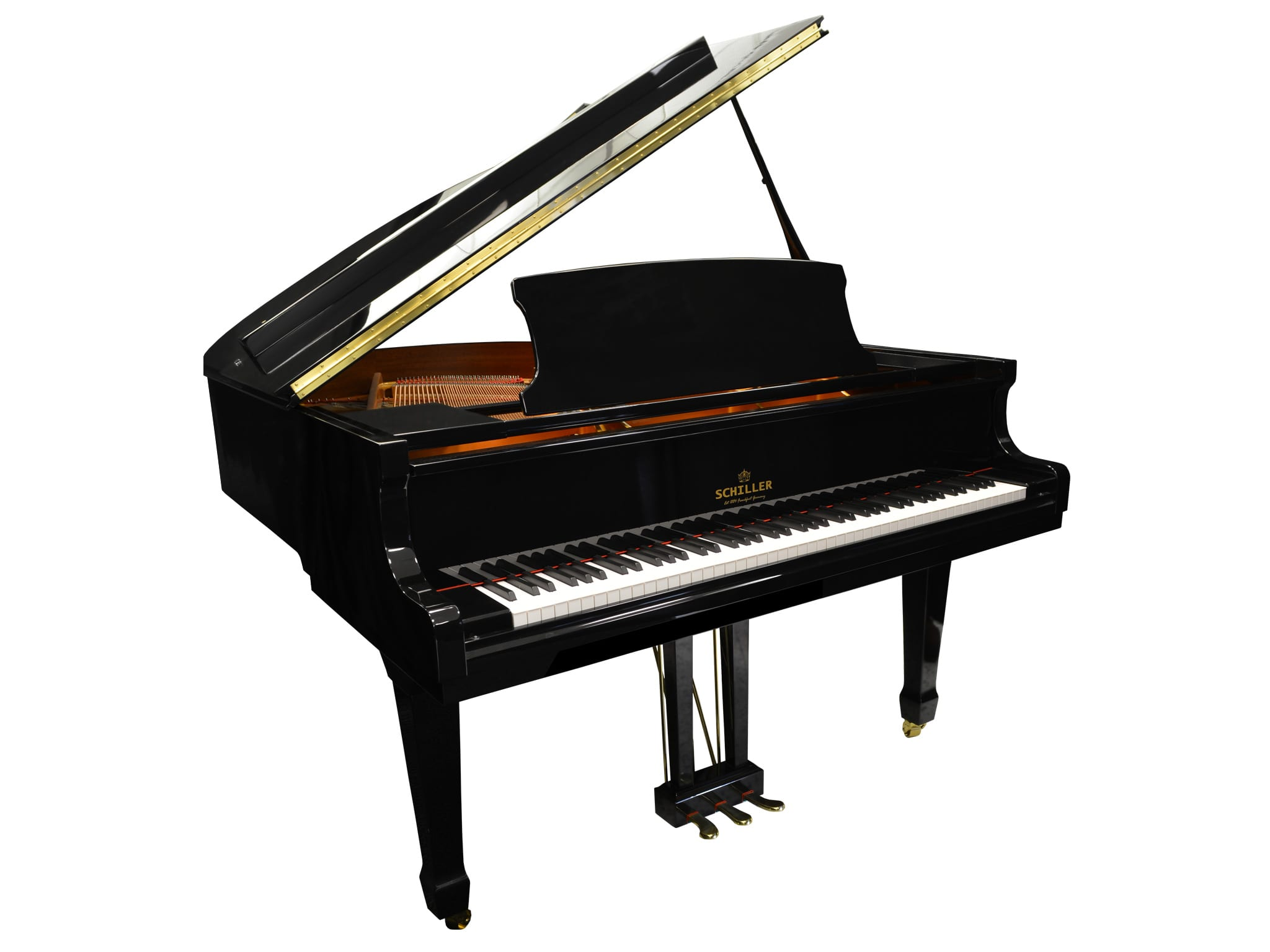 berlin grand piano ebony polish schiller piano company usa. Black Bedroom Furniture Sets. Home Design Ideas